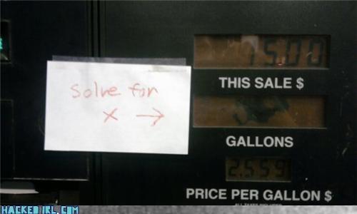 gas station,math
