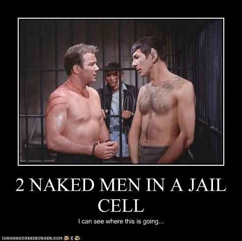 2 NAKED MEN IN A JAIL CELL