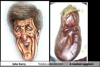 John Kerry Totally Looks Like A roasted eggplant