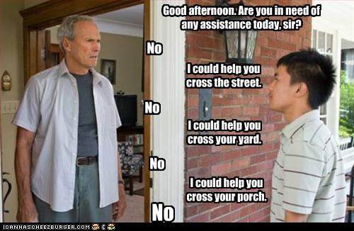 Bee Vang,Clint Eastwood,Gran Torino,movies,old,pixar,up