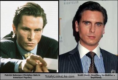 Patrick Bateman (Christian Bale in American Psycho) Totally Looks Like Scott Disick (Kourtney Kardashian's boyfriend)