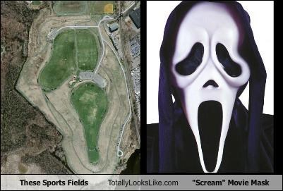 "These Sports Fields Totally Looks Like ""Scream"" Movie Mask"