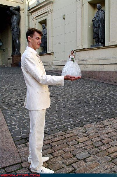 Crazy Brides,crazy groom,fashion is my passion,Funny Wedding Photo,photoshop,photoshopped wedding picture,princess bride,ridiculous,surprise,tacky suit,technical difficulties,tinkerbell,tiny bride,were-in-love,white suit,wtf,wtf is this