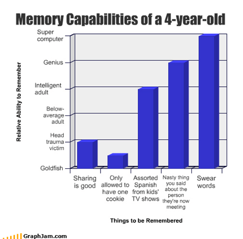 Memory Capabilities of a 4-year-old