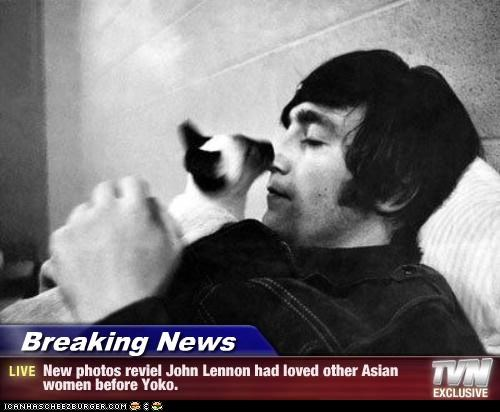 Breaking News - New photos reviel John Lennon had loved other Asian women before Yoko.