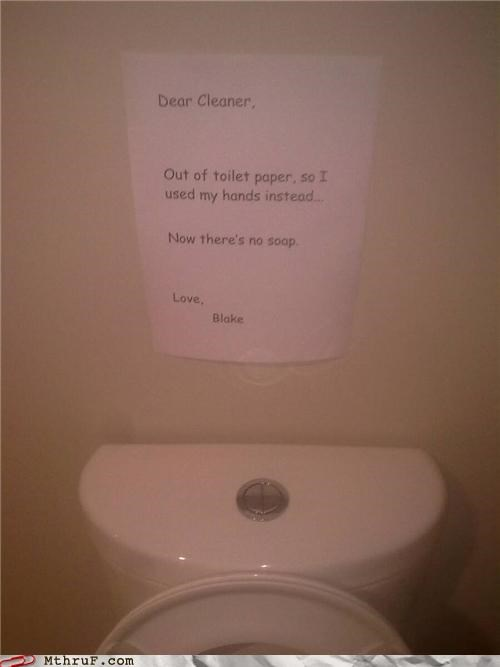 awful,bad font,bathroom,comic sans,crapping everywhere,disgusting,feces,gnar,gross,janitor,mess,paper signs,passive aggressive,plead,poo hands,pwned,request,Sad,signage,toilet,toilet graffiti,toilet paper,tragedy,wipe,wiseass