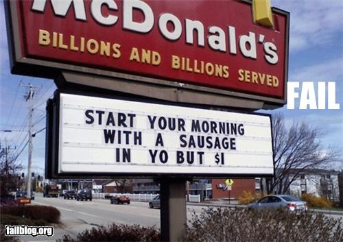 McDonald's Sign Fail