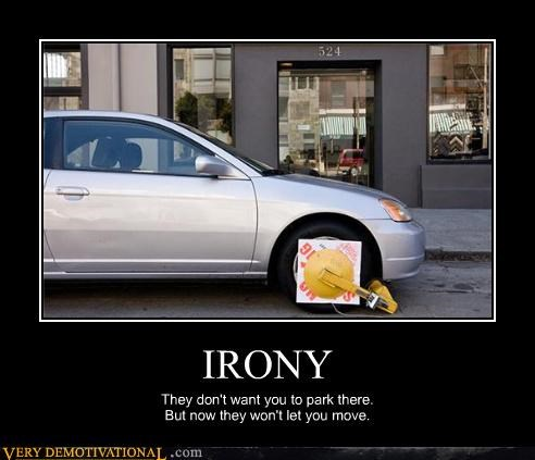 boots,cars,hilarious,irony,parking,punishment,tires