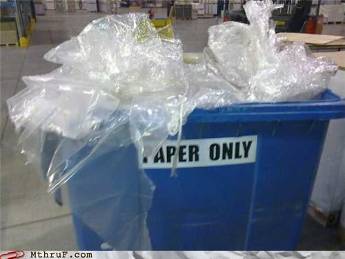 apathy,awesome co-workers not,basic instructions,bastard,busted,cling wrap,crappy,depressing,dgaf,dickhead co-workers,dont-give-a-hoot,jerk,lame,lazy,mess,paper only,passive aggressive,pitiful,plastic wrap,recycle,Recycled,recycling,Sad,screw the earth,screw you,shrink wrap,slovenly,wasteful