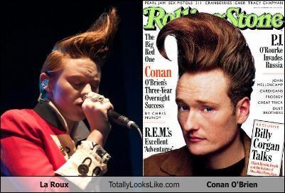 comedian,conan obrien,elly jackson,hair style,la roux,musician,redhead