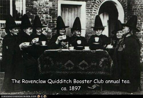 The Ravenclaw Quidditch Booster Club annual tea. ca. 1897