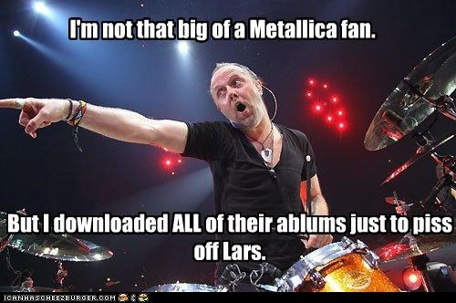 bands,douchebags,downloading,lars ulrich,metallica,Music