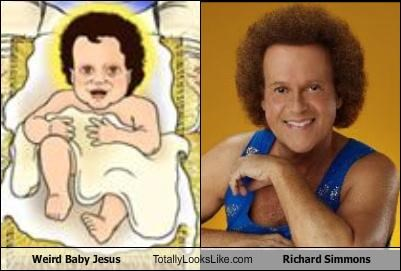 Weird Baby Jesus Totally Looks Like Richard Simmons