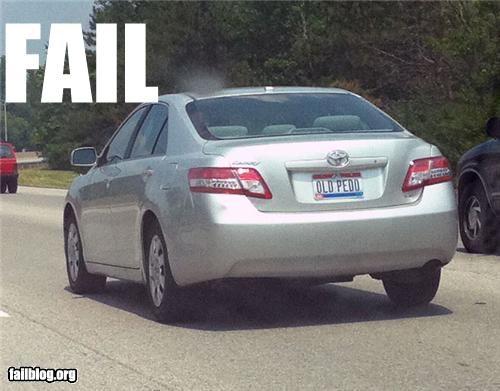 bad idea,car,license plate,pedo,wtf