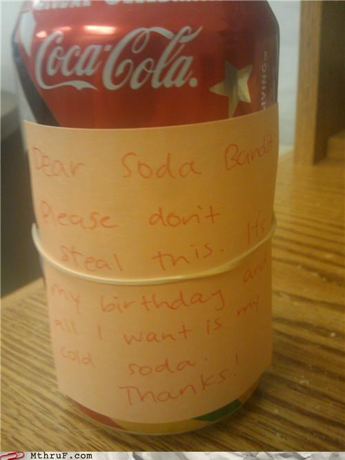 No No! Thank YOU For The Soda!