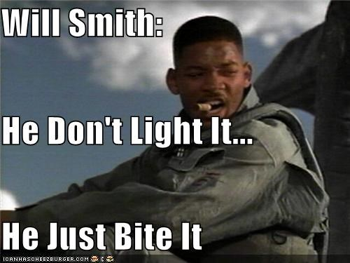 Will Smith: He Don't Light It... He Just Bite It