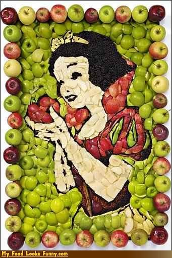animation,apples,cartoons,fruit,fruits-veggies,movies,pictures,snow white,snow white and the seven dwarfs