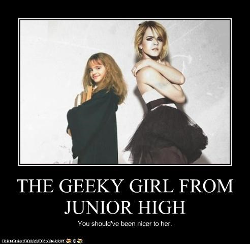 THE GEEKY GIRL FROM JUNIOR HIGH