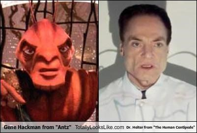 "Gene Hackman from ""Antz"" Totally Looks Like Dr. Heiter from ""The Human Centipede"""