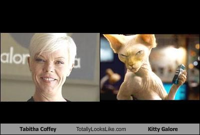 Tabitha Coffey Totally Looks Like Kitty Galore