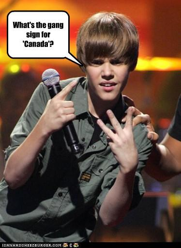 What's the gang sign for 'Canada'?
