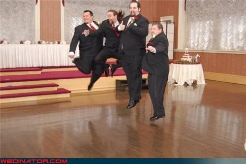 crazy groom,crazy groomsmen,crazy groomsmen picture,fashion is my passion,Funny Wedding Photo,groom,groomsmen catching air,jumping groomsmen,jumping groomsmen picture,jumping wedding photo,wedding party,wtf