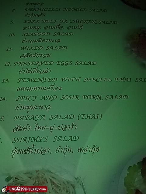 menu,pron,salad