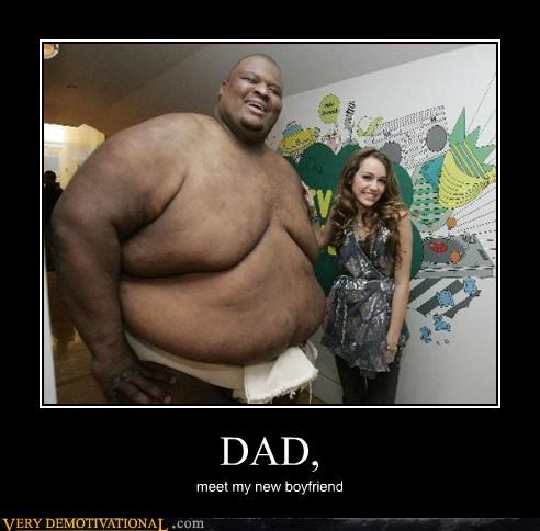dad,hilarious,love,miley cyrus,Music,singer,sumo wrestler,unlikely couple