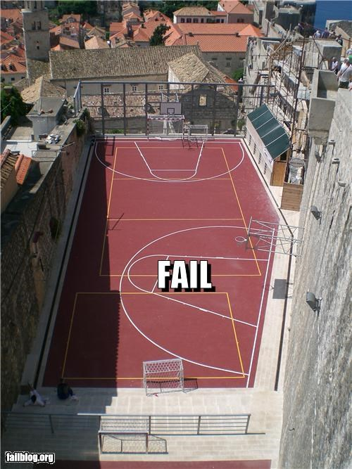 Basketball Court Fail