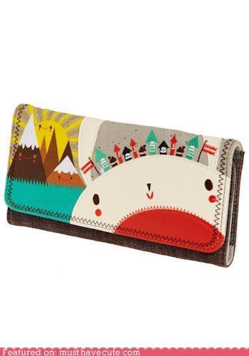 accessory,Crowded Teeth,cute-kawaii-stuff,cute wallets