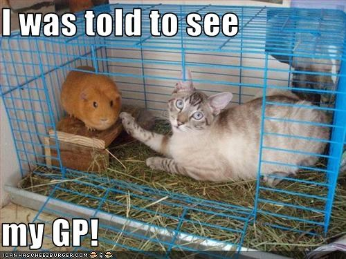I was told to see  my GP!