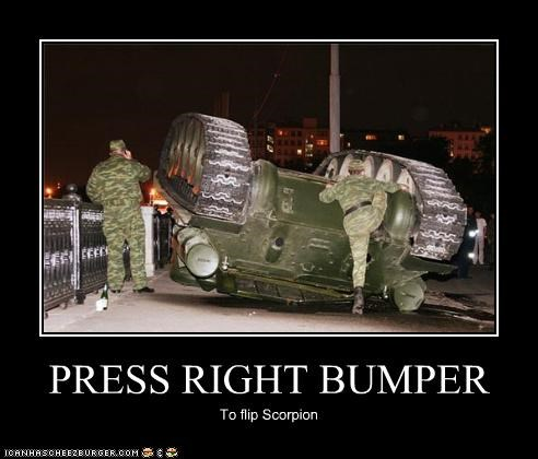 PRESS RIGHT BUMPER