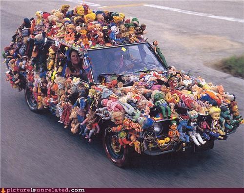 car,creepy,dolls,wtf
