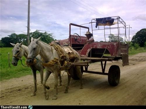 frame,horses,jeep,Kludge,recycling-is-good-right,transportation