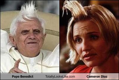 Pope Benedict Totally Looks Like Cameron Diaz