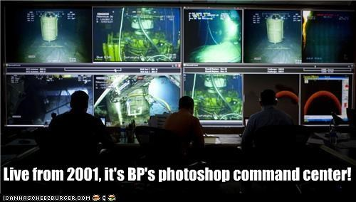 Live from 2001, it's BP's photoshop command center!