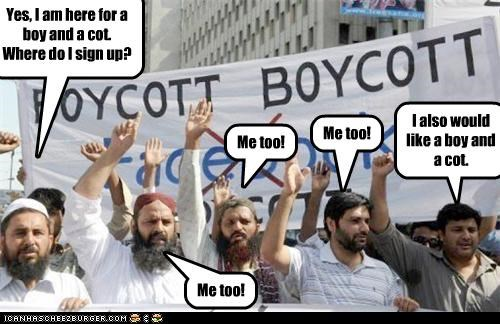 That's not what boycott means.