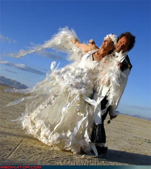 Economic Solutions: Crepe Paper Wedding Dress