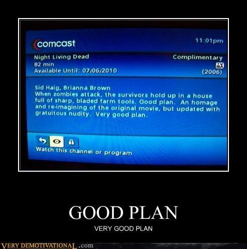 cable,comcast,good plan,hilarious,TV,wtf,zombie