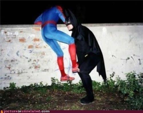 batman,comic con,Spider-Man,wtf