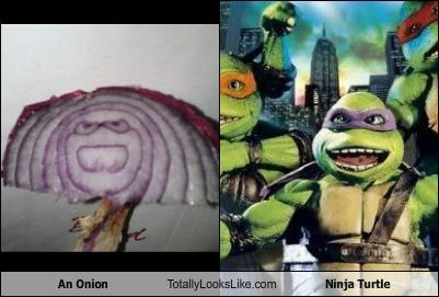 An Onion Totally Looks Like Ninja Turtle