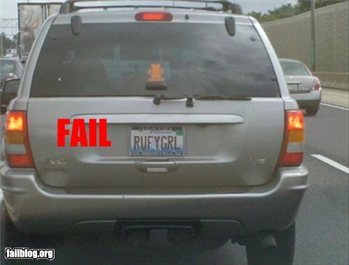 failboat,innuendo,license plate,stupid