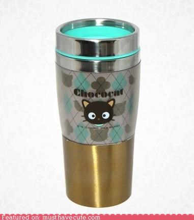 chococat,coffee,cup,hot chocolate,Kitchen Gadget,mug,Sanrio,tea,to go,Travel,tumbler