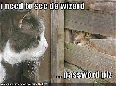 i need to see da wizard  ... password plz
