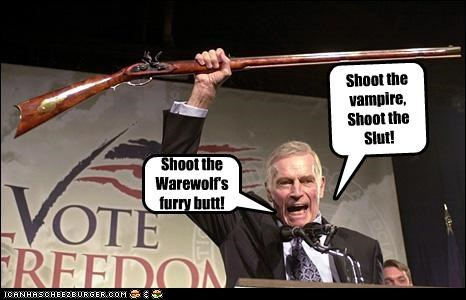 Shoot the vampire, Shoot the Slut!