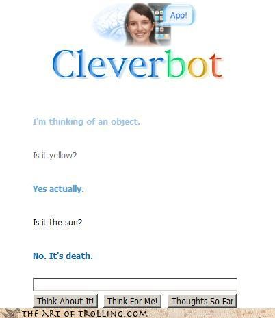 Cleverbot,favorite color,grim reaper,sun,yellow