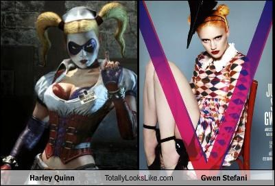 "Harley Quinn From ""Arkham Asylum"" Video Game Totally Looks Like Gwen Stefani On The Cover Of ""V Magazine"""