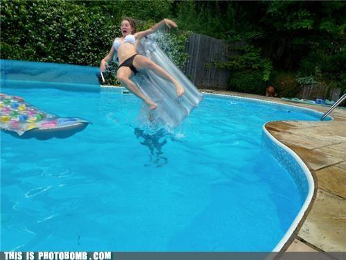 attack,floating,Impending Doom,pool,summer