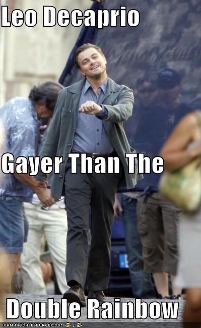 Leo Decaprio Gayer Than The  Double Rainbow