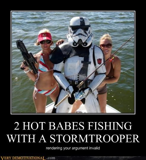 2 HOT BABES FISHING WITH A STORMTROOPER